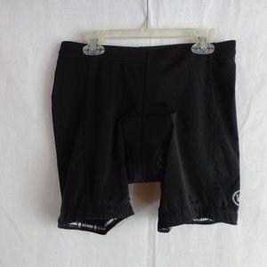 CANARI Black Chamois Cycling Shorts Size M MINT!